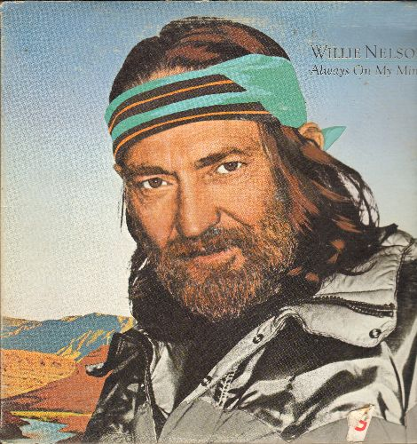 Nelson, Willie - Always On My Mind: A Whiter Shade Of Pale, Let It Be Me, Bridge Over Troubled Water, The Party's Over (vinyl STEREO LP record) - EX8/VG7 - LP Records