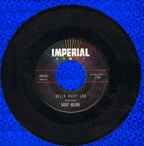 Nelson, Rick - Hello Mary Lou/Travelin' Man  - VG6/ - 45 rpm Records