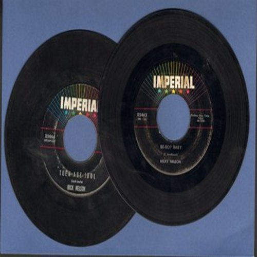 Nelson, Rick - 2 for 1 Special: Be Bop Baby/Teenage Idol (2 vintage first issue 45rpm records for the price of 1!) - VG7/ - 45 rpm Records