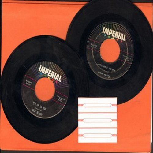 Nelson, Rick - 2 for 1 Special: Lonesome Town/It's Up To You (2 vintage first issue 45rpm records with 3 blank juke box labels for the price of 1!) - VG7/ - 45 rpm Records