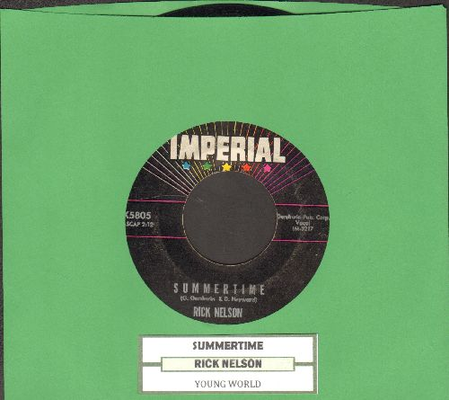 Nelson, Rick - Young World/Summertime (with juke box label) - VG7/ - 45 rpm Records