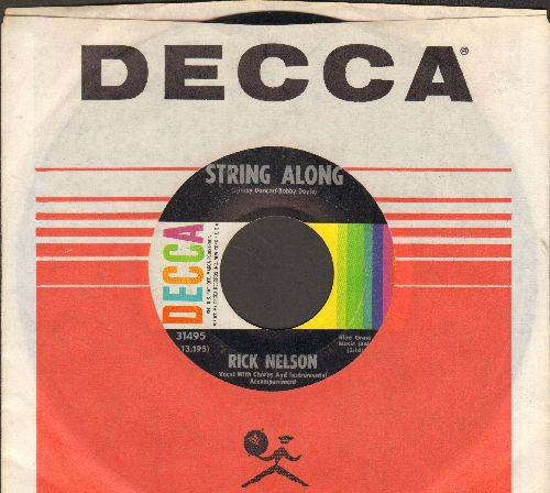 Nelson, Rick - String Along/Gypsy Woman (with vintage Decca company sleeve) - EX8/ - 45 rpm Records