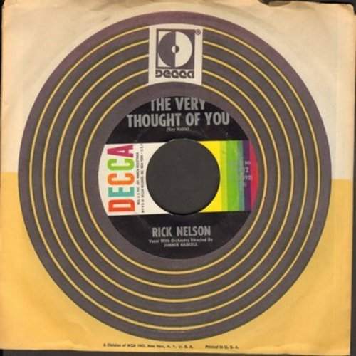 Nelson, Rick - The Very Thought Of You/I Wonder (with Decca company sleeve) - NM9/ - 45 rpm Records