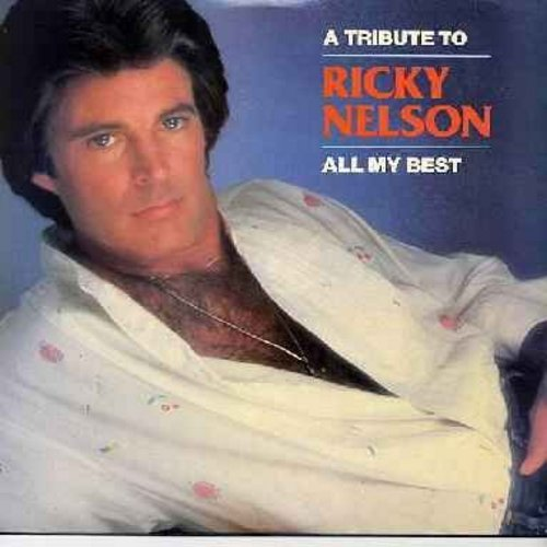 Nelson, Rick - A Tribute To Ricky Nelson: Hello Mary Lou, Poor Little Fool, Lonesome Town, It's Up To You, Teenage Idol, Sweeter Than You, Garden Party (2 vinyl LP record set, 1986 issue, counts as 2LPs) - NM9/EX8 - LP Records