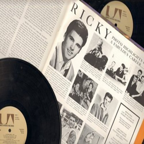 Nelson, Rick - Ricky Nelson: Be Bop Baby, Poor Little Fool, Teenage Idol, Hello Mary Lou, Young Emotions (2 vinyl LP record set, gate-fold cover, 1971 issue with BONUS picture pages!) - EX8/EX8 - LP Records
