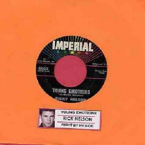Nelson, Rick - Young Emotions/Right By My Side (with juke box label) - VG7/ - 45 rpm Records