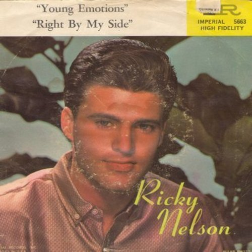 Nelson, Rick - Young Emotions/Right By My Side (with picture sleeve) - NM9/G5 - 45 rpm Records