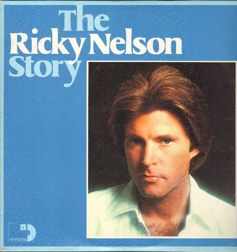 Nelson, Rick - The Ricky Nelson Story: Teenage Idol, Hello Mary Lou, Garden Party, Be Bop Baby (3 vinyl LP record set, 1976 issue of vintage recordings) - NM9/EX8 - LP Records