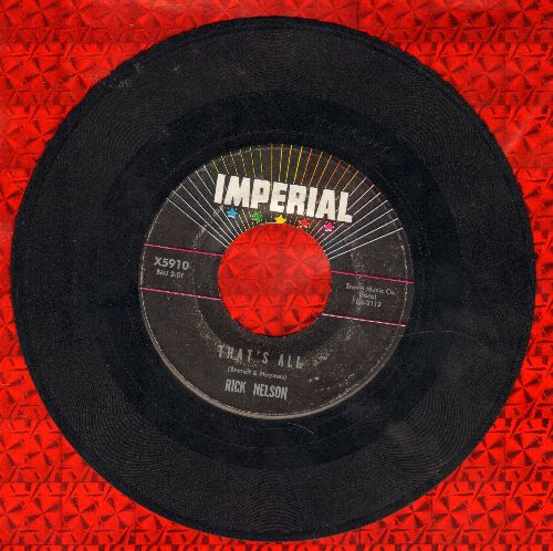 Nelson, Rick - That's All/I'm In Love Again - VG7/ - 45 rpm Records