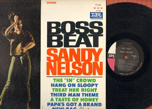 Nelson, Sandy - Boss Beat: The In Crowd, Hang On Sloopy, Third Man Theme, A Taste Of Honey, Louie Louie, Down In The Boondocks (Vinyl STEREO LP record, NICE condition!) - NM9/NM9 - LP Records