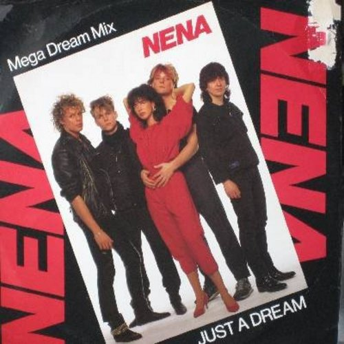 Nena - Just A Dream (6:40 minutes Mega Dream Mix)/Nur getrauemt (German Version of Just A Dream, 3:40 minutes Original single version)/Indianer (3:14 minutes) (12 inch vinyl Maxi Single with picture cover, German Pressing) - NM9/EX8 - LP Records