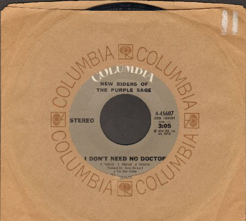 New Riders Of The Purple Sage - I Don't Need No Doctor/Runnin' Back To You (with Columbia company sleeve) - EX8/ - 45 rpm Records