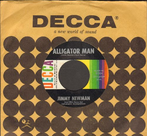 Newman, Jimmy - Alligator Man/Give Me Heaven (with vintage Decca company sleeve) - NM9/ - 45 rpm Records