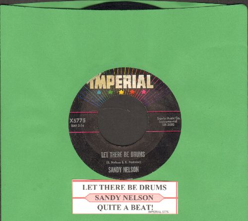 Nelson, Sandy - Let There Be Drums/Quite A Beat (with juke box label) - NM9/ - 45 rpm Records