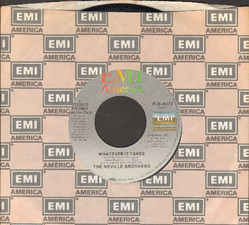 Neville Brothers - Whatever It Takes (double-A-sided DJ advance pressing with EMI company sleeve) - NM9/ - 45 rpm Records