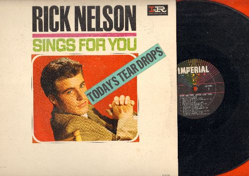 Nelson, Rick - Rick Nelson Sings For You - Today's Teardrops: Lucky Star, There Goes My Baby, Congratulations, Be True To Me (Vinyl MONO LP record) - EX8/VG7 - LP Records
