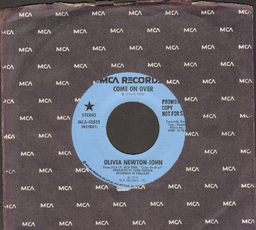 Newton-John, Olivia - Come On Over (double-A-sided DJ advance pressing with MCA company sleeve) - NM9/ - 45 rpm Records