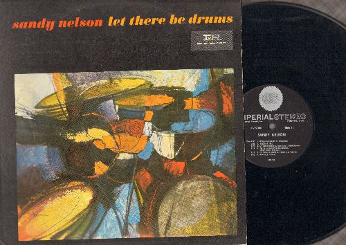 Nelson, Sandy - Let There Be Drums: The Birth Of The Beat, Quite A Beat, Tequila, Bouncy, My Girl Josephine, Slippin' And Slidin' (Vinyl LP record, RARE STEREO pressing) - EX8/VG7 - LP Records