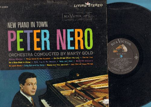 Nero, Peter - New Piano In Town: Stormy Weather, On The Street Where You Live, Body And Soul, St. Louis Blues (vinyl STEREO LP record) - NM9/EX8 - LP Records