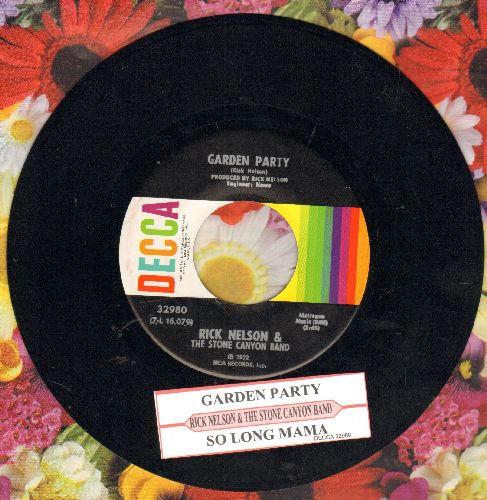 Nelson, Rick - Garden Party/So Long Mama (MINT condition with juke box label) - M10/ - 45 rpm Records