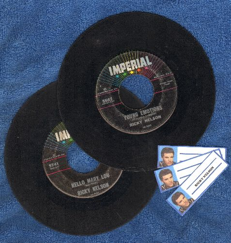 Nelson, Rick - 2 for 1 Special: Hello Mary Lou/Travelin' Man and Young Emotions/Right By Your Side (2 vintage first issue 45rpm records for the price of 1!) - VG7/ - 45 rpm Records