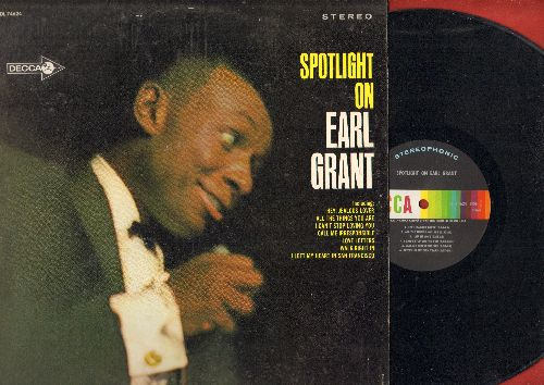 Grant, Earl - Spotlight On Earl Grant: I Can't Stop Loving You, Walk Right In, Call Me Irresponsible, I Left My Heart In San Francisco (vinyl STEREO LP record) - NM9/EX8 - LP Records