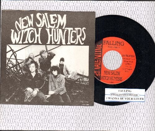 New Salem Witch Hunters - Falling/I Wanna Be Your Lover (RARE Cleveland Garage Rock, with picture sleeve and juke box label) - NM9/NM9 - 45 rpm Records