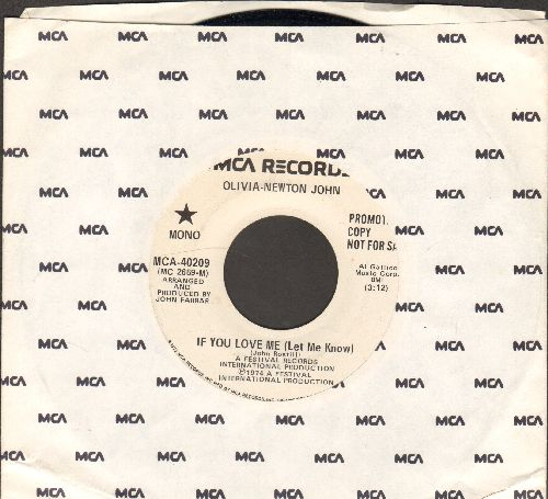 Newton-John, Olivia - If You Love Me (Let Me Know) (double-A-sided DJ advance pressing with MCA company sleeve) - EX8/ - 45 rpm Records
