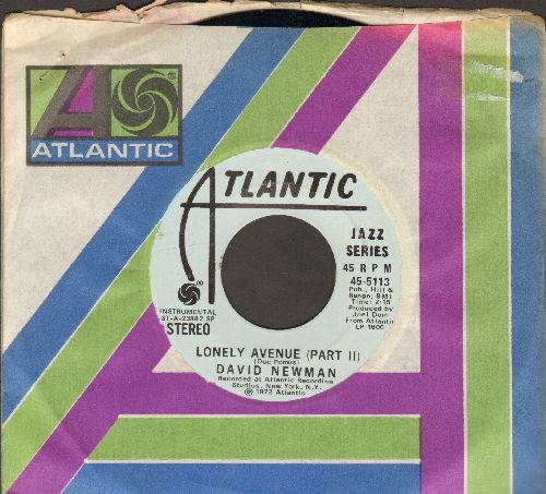 Newman, David - Lonely Avenue (Parts 1 + 2) (DJ advance pressing with Atlantic company sleeve) - NM9/ - 45 rpm Records
