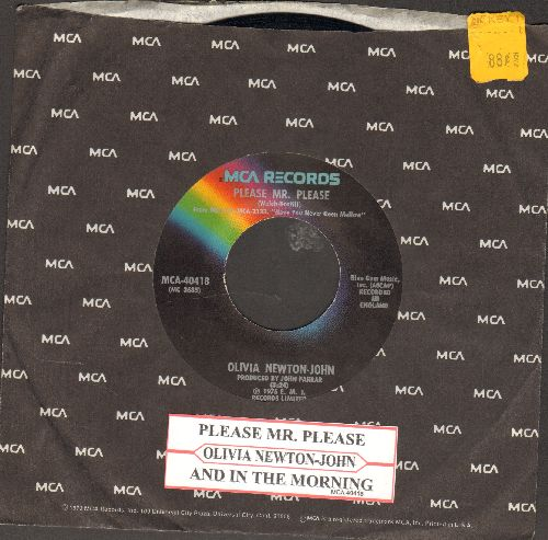 Newton-John, Olivia - Please Mr. Please/And In The Morning (with juke box label and MCA company sleeve) - EX8/ - 45 rpm Records