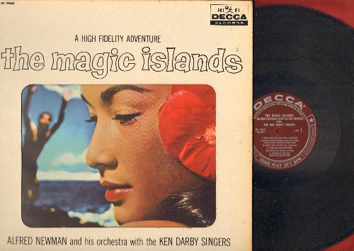 Newman, Alfred with Ken Darby Singers - The Magic Islands - There is only one Hawaii (vinyl MONO LP record, burgundy label, gate-fold cover) - EX8/EX8 - LP Records