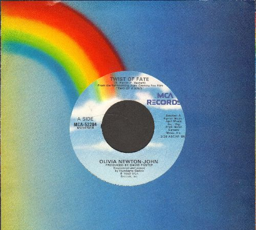 Newton-John, Olivia - Twist Of Fate/Take A Chance (with MCA company sleeve) - NM9/ - 45 rpm Records