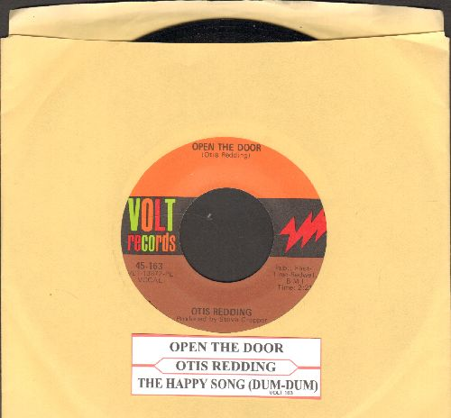 Redding, Otis - Open The Door/The Happy Song (Dum Dum)/Open The Door (with juke box label) - NM9/ - 45 rpm Records