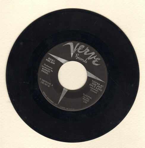 Nelson, Rick - You're My One And Only Love/Honey Rock  - VG6/ - 45 rpm Records