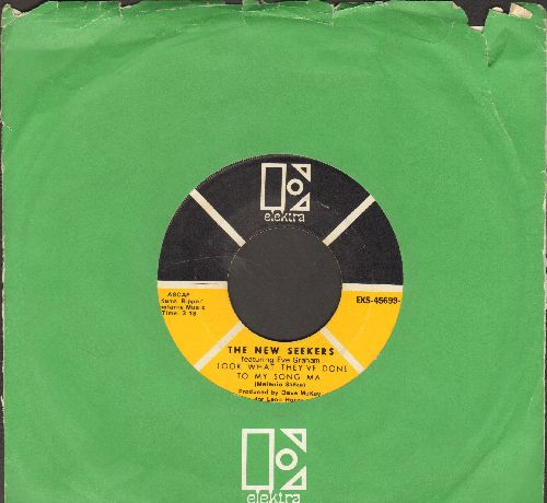 New Seekers - Look What They've Done To My Song Ma/It's A Beautiful Day (with Elektra company sleeve) - EX8/ - 45 rpm Records