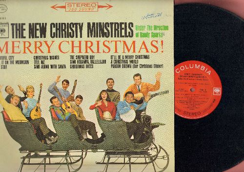 New Christy Minstrels - Merry Christmas!: Christmas Trees, Sing Along With Santa, The Shepherd Boy, Tell It On The Mountain (Vinyl STEREO LP record) - NM9/VG7 - LP Records