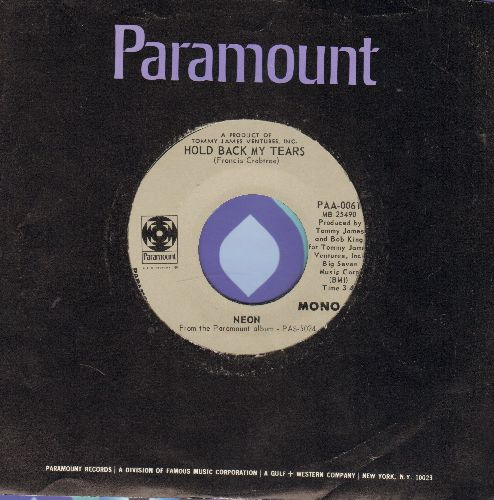 Neon - Hold Back My Tears/Dark Is The Night (with vintage Paramount company sleeve) - NM9/ - 45 rpm Records