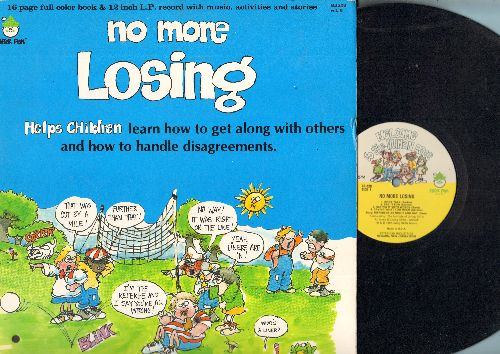 No More Losing - No More Losing - Helps children learn how to get along with others and how to handle disagreements  (vinyl LP record with full color book, music activites and sories) - NM9/EX8 - LP Records