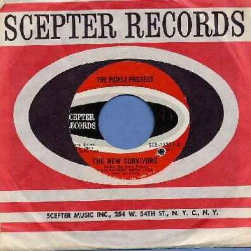 New Survivors - The Pickle Protest (VERY Unusual 60s Garage Sound/Political Novelty!)/But I Know (with Scepter company sleeve) (bb) - NM9/ - 45 rpm Records