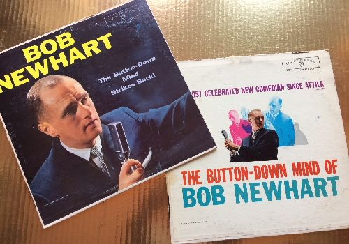 Newhart, Bob - 2 Original LPs for the price of 1! The Button-Down Mind Of Bob Newhart/The Button-Down Mind Of Bob Newhart Strikes Back! - VG7/VG7 - LP Records