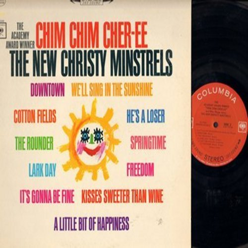 New Christy Minstrels - The Academy Award Winner Chim Chim Cher-ee: Downtown, We'll Sing In The Sunshine, Kisses Sweeter Than Wine (Vinyl STEREO LP record) - M10/NM9 - LP Records