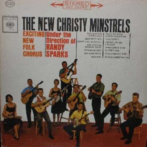 New Christy Minstrels - The New Christy Minstrels - Exciting New Folk Chorus: This Land Is Our Land, Deep Blue Sea, The Cotton Pickers' Song, Nine Hundred Miles (Vinyl STEREO LP record) - NM9/VG7 - LP Records