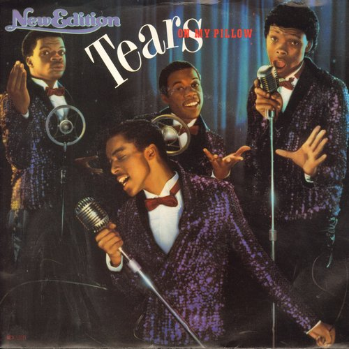 New Edition - Tears On My Pillow/Bring Back The Memories (double-A-sided DJ advance pressing with picture sleeve) - NM9/EX8 - 45 rpm Records