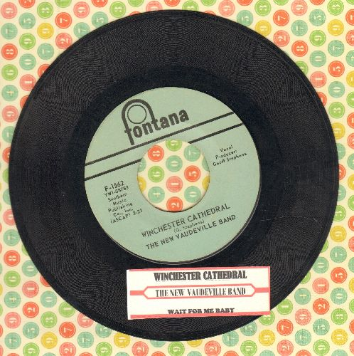 New Vaudeville Band - Winchester Cathedral/Wait For Me Baby (with juke box label) - EX8/ - 45 rpm Records