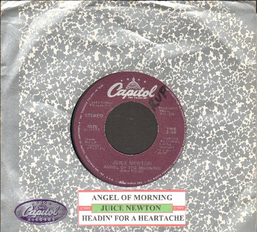 Newton, Juice - Angel Of Morning/Headin' For A Heartache (with juke box label and company sleeve) - EX8/ - 45 rpm Records