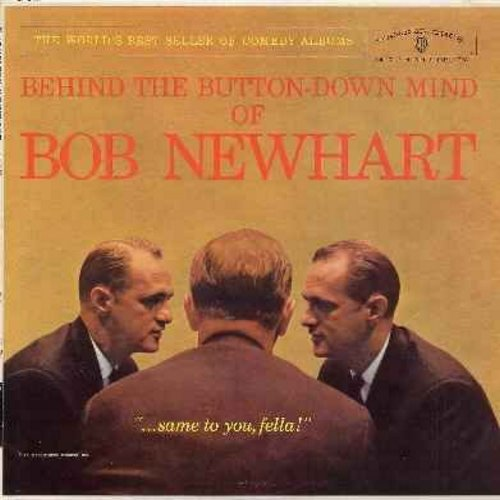 Newhart, Bob - Behind The Button-Down Mind Of Bob Newhart (Vinyl MONO LP record, NICE condition!) - EX8/VG7 - LP Records