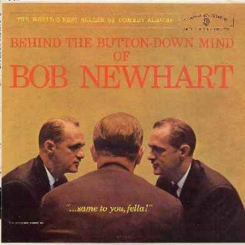 Newhart, Bob - Behind The Button-Down Mind Of Bob Newhart (Vinyl MONO LP record, NICE condition!) - EX8/VG7 - LP Records