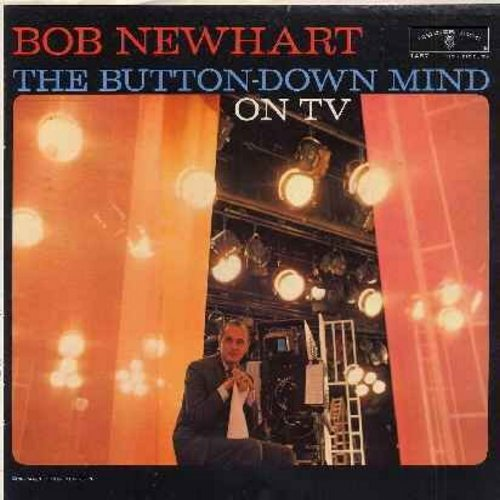 Newhart, Bob - The Button-Down Mind On TV - Bob Newhart re-creates the most hilarious moments from -The Bob Newhart Show- (Vinyl MONO LP record, 1962 first issue) - EX8/VG7 - LP Records
