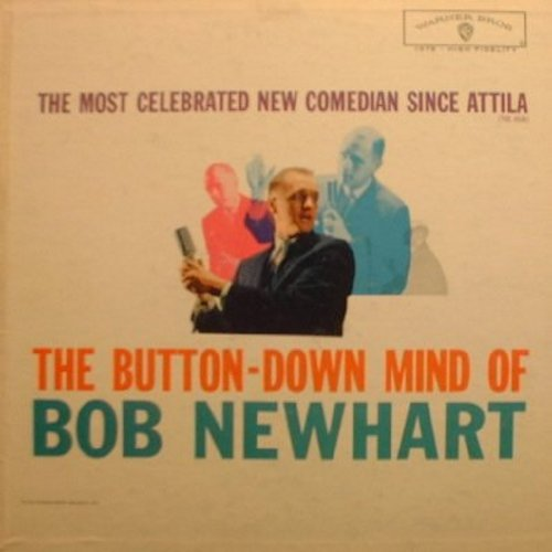 Newhart, Bob - The Button-Down Mind Of Bob Newhart: The original comedy LP that started it all! - EX8/VG7 - LP Records