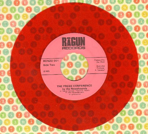 Newshounds - The Press Conference by The Newshounds (LIMITED EDITION Red Vinyl one-sided Novelty Record) - NM9/ - 45 rpm Records
